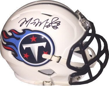 Marcus Mariota signed Tennessee Titans Riddell Speed Mini Helmet #8- Mariota Hologram (center sig)