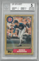 Greg Maddux 1987 Topps Traded Rookie Baseball Card #70T- BGS Graded 5 Excellent (Chicago Cubs)