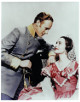 Olivia de Havilland & Leslie Howard unsigned Vintage Gone With the Wind Color 8x10 Photo