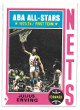 Julius Erving 1974-75 New York Nets ABA All Stars Topps Basketball Trading Card #200