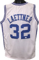 Christian Laettner signed White Custom Stitched College Basketball The Shot Jersey XL (black sig)- JSA Witnessed Hologram