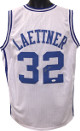 Christian Laettner signed White Custom Stitched College Basketball The Shot Jersey XL (silver sig)- JSA Witnessed Hologram