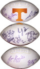 Phillip Fulmer signed Tennessee Volunteers  Logo Football (11 sigs) w/ Go Vols Insc – Lane Kiffin, David Cutcliffe, Jason Allen