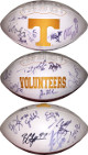 Arian Foster signed Tennessee Volunteers  Logo Football (18 sigs) – Britton Colquitt, Will Overstreet, Eric Ainge, Eric Berry
