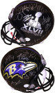 Baltimore Ravens SB XLVII Logo Team signed FS Rep Helmet 27 sigs – JSA ITP W424443 Terrell Suggs, Michael Oher