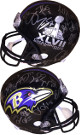 Baltimore Ravens SB XLVII Logo Team signed FS Rep Helmet 27 sigs – JSA ITP W424440 Terrell Suggs Michael Oher