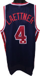 Christian Laettner signed Team USA Olympic Gold Dream Team Navy/Red Trim Custom Stitched Basketball Jersey XL-JSA Witnessed Holo