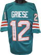 Bob Griese signed Teal TB Custom Stitched Pro Style Football Jersey- JSA Witnessed Hologram