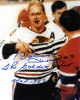 Bobby Hull signed Chicago Blackhawks Blood 8x10 Photo dual #9 The Golden Jet & HOF 83