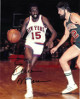 Earl Monroe signed New York Knicks 8x10 Photo (black sig vs Bucks)