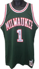Oscar Robertson signed Milwaukee Bucks Mitchell & Ness Authentic Hardwood Classics Green Jersey 71 Champs- PSA Witnessed Holo