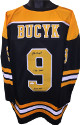 Johnny Bucyk signed Black TB Custom Stitched Pro Hockey Jersey dual HOF 1981 & 556 Goals XL- JSA Witnessed Hologram