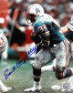 Earl Campbell signed Houston Oilers 8X10 Photo (blue jersey)- JSA Hologram #DD90979