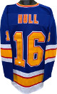 Brett Hull signed Blue TB Custom Stitched Pro Hockey Jersey #16 XL- JSA Witnessed Hologram
