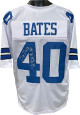 Bill Bates signed White Custom Stitched Pro Style Football Jersey #40 3X Super Bowl Champs- JSA Hologram