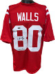 Wesley Walls signed Red TB Custom Stitched College Football Jersey XL #80 CHOF 14- Radtke Sports Hologram