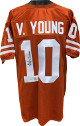 Vince Young signed Texas Longhorns Orange Custom Stitched College Football Jersey XL 05 National Champs- JSA