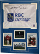Graeme McDowell signed RBC Heritage White PGA Tour Embroidered Pin Flag Matted w/Photos (18x24)- JSA Hologram