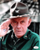 Harry Morgan signed M*A*S*H 8x10 Photo (Colonel Sherman T. Potter)- JSA Hologram #DD32791