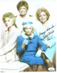 Betty White signed Golden Girls 8.5x11 Photo w/ Rose and Many Thanks- JSA Hologram #DD32815