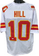 Tyreek Hill signed White Custom Stitched Pro Style Football Jersey XL #10- JSA Witnessed Hologram