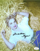 Martha Hyer signed Vintage Color 8x10 Photo- JSA Hologram #DD32848 (laying in hay)