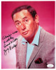 Joey Bishop signed Vintage Color 8x10 Photo To Randy's Sister With My Good Wishes- JSA Hologram #DD32786