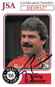 Terry Labonte signed NASCAR 1988 Maxx Charlotte Racing Trading Card #63- JSA Hologram #DD39127
