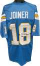 Charlie Joiner signed Light Blue TB Custom Stitched Pro Style Football Jersey XL- Leaf Authentics Hologram
