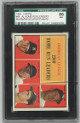 Mickey Mantle/Roger Maris/Rocky Colavito 1961 Topps AL Home Run Leaders Baseball Card #44- SGC Graded 86 Near Mint+