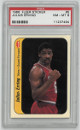 Julius Erving Philadelphia 76ers 1986-87 Fleer Sticker Basketball Card #5- PSA Graded 8 Near Mint-Mint