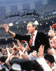 Vince Dooley signed Georgia Bulldogs 8x10 Photo (1980 National Champs Carry Off)