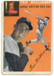 Ted Williams Boston Red Sox 1954 Topps Baseball Trading Card #1- minor top surface creases