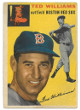 Ted Williams Boston Red Sox 1954 Topps Baseball Trading Card #250- very minor top surface crease