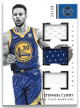 Stephen Curry Golden State Warriors 2017-18 Panini Encased Triple Game Used Jersey Basketball Card #TJ-SC- LTD 34/99