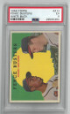 Hank Aaron/Eddie Mathews Braves 1959 Topps Fence Busters White Back Baseball Card #212- PSA Graded 5 Excellent