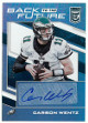 Carson Wentz signed Philadelphia Eagles 2017 Panini Donruss Elite Back to the Future Football Card #BTTF-CW- LTD 4/10