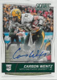 Carson Wentz signed North Dakota State 2016 Panini Score Football Rookie Card (RC) #335