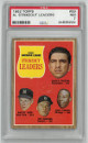 Whitey Ford/Jim Bunning 1962 Topps 1961 AL Strikeout Leaders Baseball Card #59- PSA Graded 7 Near Mint