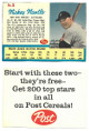 Mickey Mantle New York Yankees 1962 Post Cereal Baseball Card #5