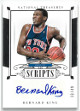 Bernard King signed New York Knicks 2014-15 Panini National Treasures Scripts Basketball Card #SC-BK- LTD 33/49