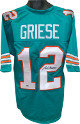 Bob Griese signed Teal TB Custom Stitched Pro Style Football Jersey XL (black sig)- Leaf Authentics Hologram