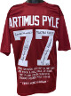Artimus Pyle signed Crimson Custom Stitched Jersey 3 insc Lynyrd Skynyrd/Rock & Roll HOF/Sweet Home Alabama Emb Stat LTD-JSA ITP