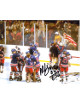 Mike Eruzione signed 1980 Team USA Olympic Hockey 8x10 Photo w/ 80 Gold- JSA Holo #DD90875 (Miracle on Ice- black sig)