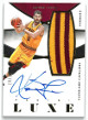 Kevin Love signed Cleveland Cavaliers 2014-15 Panini Luxe Game Used Jersey Basketball Card #M-KL- LTD 19/25
