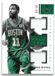 Kyrie Irving Boston Celtics 2017-18 Panini Encased Triple Game Used Jersey Basketball Card #TJ-KI- LTD 88/99