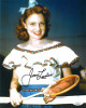 Joan Leslie signed Vintage Color 8x10 Photo- JSA Hologram #DD90945 (w/ tennis racquet)