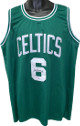 Bill Russell signed Green TB Custom Stitched Pro Basketball Jersey #6- PSA Hologram #W26503