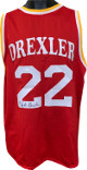 Clyde Drexler signed Red TB Custom Stitched Pro Style Basketball Jersey- JSA Hologram #WP945813
