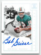 Bob Griese signed Miami Dolphins 2018 Panini Impeccable Indelible Ink Football Card #11-BG- LTD 9/10